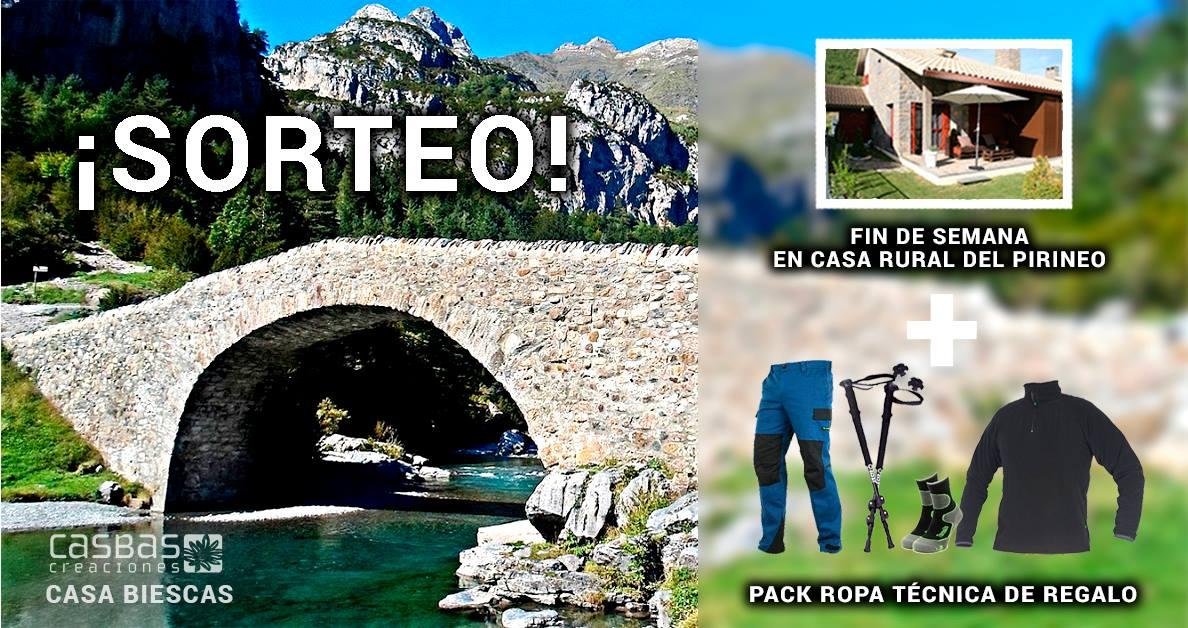 Fin de semana del 26 al 28 de Mayo, para 5 personas en el Pirineo Aragonés, en Casa Biescas